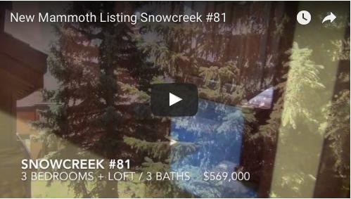 New Mammoth Listing   Snowcreek #81
