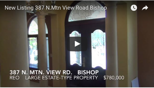 New REO Listing  387 N. Mtn. View Road  Bishop