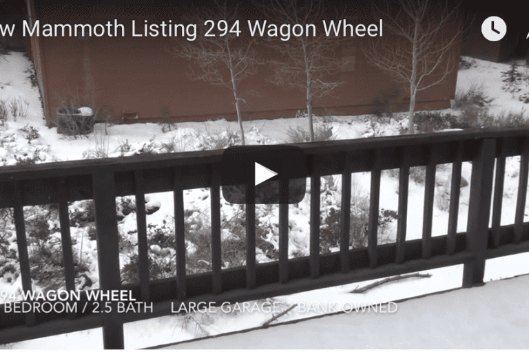 New Mammoth Listing – Bank Owned – 294 Wagon Wheel