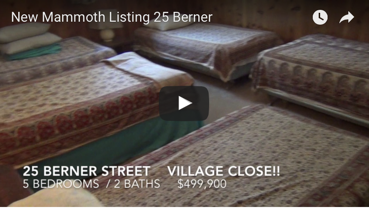 New Mammoth Listing —  25 Berner St.