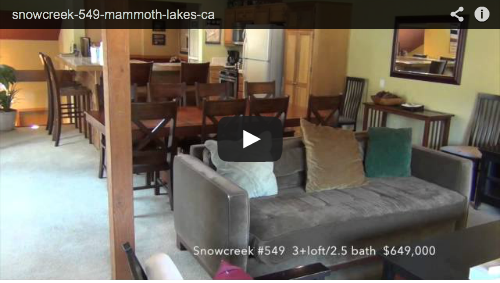 New Mammoth Listing   Snowcreek #549