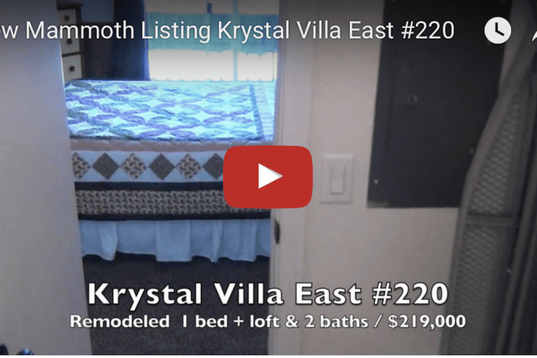 New Mammoth Listing  Krystal Villa East #220