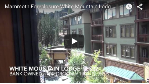 Mammoth Foreclosure   White Mountain Lodge #2322