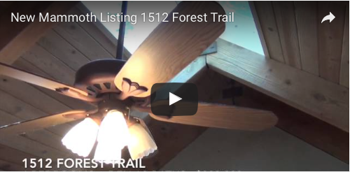 New Mammoth Listing  1512 Forest Trail